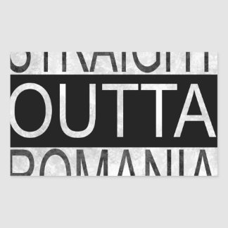 Straight Outta Romania Rectangular Sticker