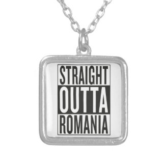 straight outta Romania Silver Plated Necklace