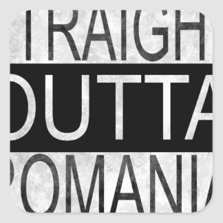 Straight Outta Romania Square Sticker