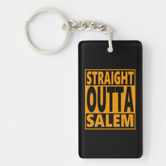 Straight Outta Salem Halloween Fanatic Key Ring