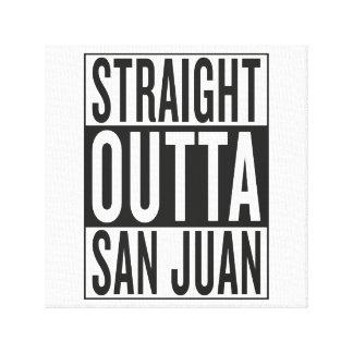 straight outta San Juan Canvas Print