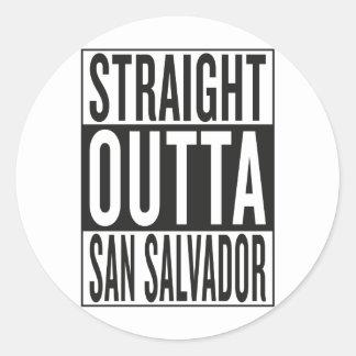 straight outta San Salvador Round Sticker