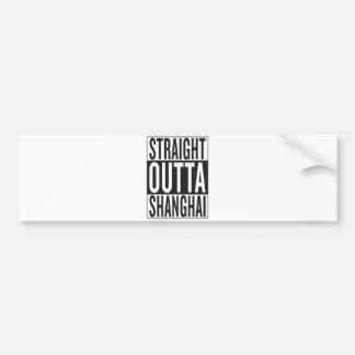 straight outta Shanghai Bumper Sticker