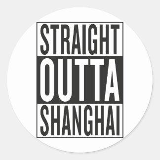 straight outta Shanghai Round Sticker