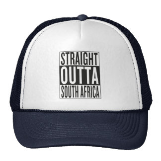 straight outta South Africa Cap
