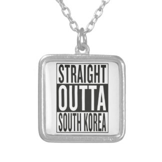 straight outta South Korea Silver Plated Necklace