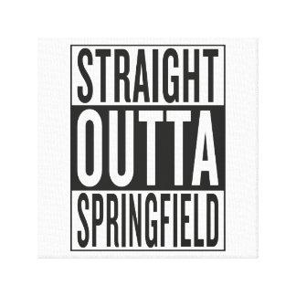 straight outta Springfield Canvas Print