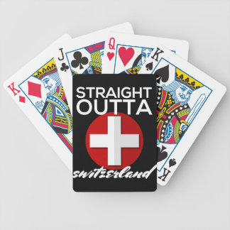 STRAIGHT OUTTA SWITZERLAND BICYCLE PLAYING CARDS