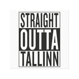 straight outta Tallinn Canvas Print