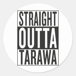 straight outta Tarawa Classic Round Sticker