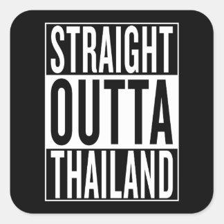 straight outta Thailand Square Sticker