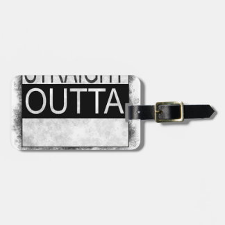 Straight outta the box luggage tag
