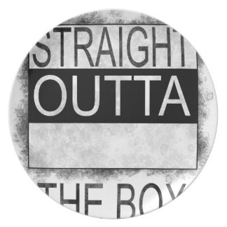 Straight outta the box plate
