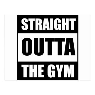 Straight Outta The Gym Postcard