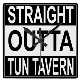 Straight Outta Tun Tavern Square Wall Clock