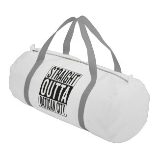 straight outta Vatican City Gym Bag