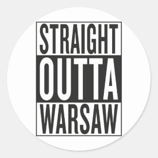 straight outta Warsaw Classic Round Sticker