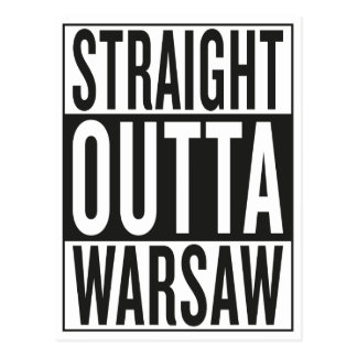 straight outta Warsaw Postcard