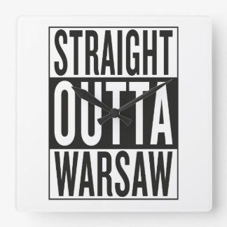 straight outta Warsaw Square Wall Clock