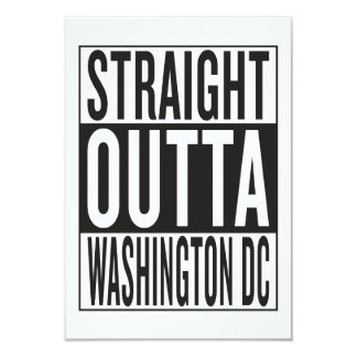 straight outta Washington DC Card