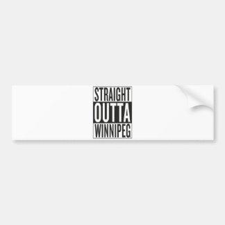 straight outta Winnipeg Bumper Sticker