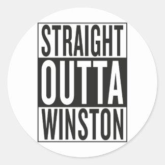 straight outta Winston Classic Round Sticker