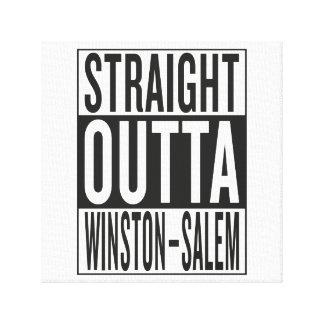 straight outta Winston–Salem Canvas Print