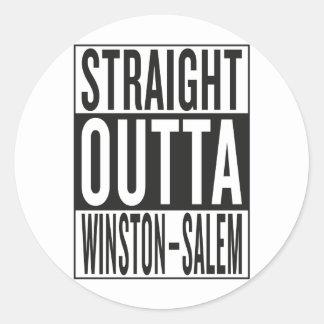 straight outta Winston–Salem Classic Round Sticker