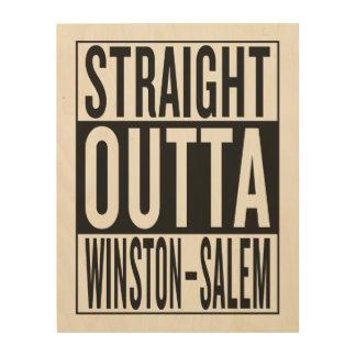 straight outta Winston–Salem Wood Print