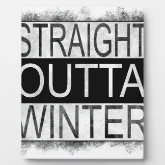 Straight outta WINTER Plaque