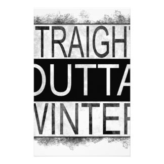 Straight outta WINTER Stationery