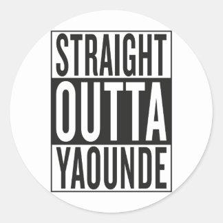 straight outta Yaounde Classic Round Sticker