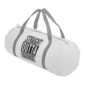 straight outta Yaounde Gym Duffel Bag