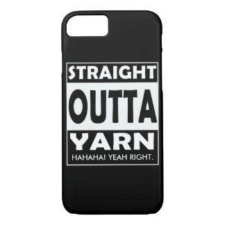 Straight Outta Yarn • Crafts / Your Text iPhone 7 Case