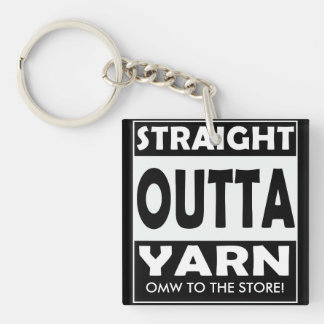 Straight Outta Yarn • Crafts / Your Text Key Ring
