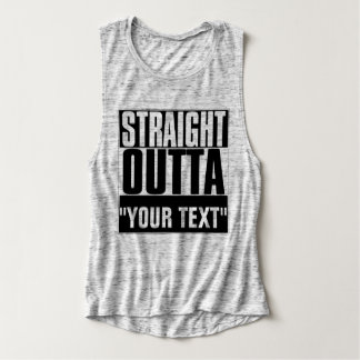 """STRAIGHT OUTTA """"YOUR TEXT"""" T-SHIRT"""