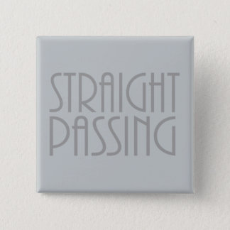 Straight Passing 15 Cm Square Badge