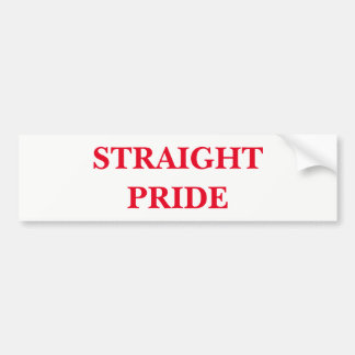 Straight Pride Bumper Sticker