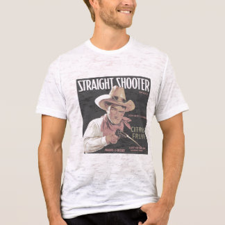 Straight Shooter faded burnout T-Shirt
