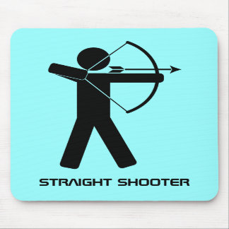 Straight Shooter mousepad aqua