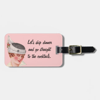 Straight to the Cocktails Luggage Tag