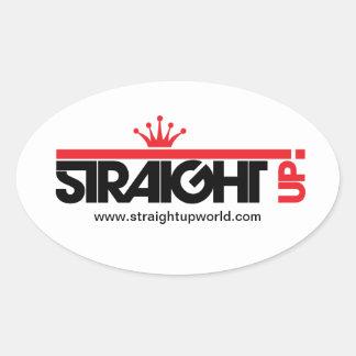Straight Up! Oval Sticker