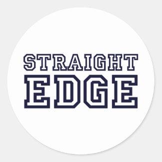 StraightEdge Classic Round Sticker