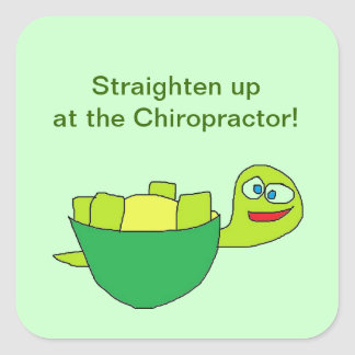 Straighten up Chiropractor Stickers