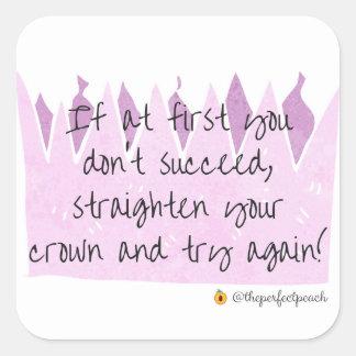Straighten Your Crown stickers