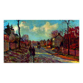 Strait Of Louveciennes art by Camille Pissarro Pack Of Standard Business Cards