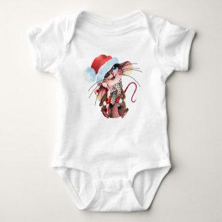 Strampler for Christmas mice Baby Bodysuit