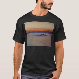 Strand mit Sonnenuntergang T-Shirt