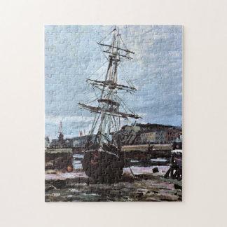 Stranded Boat in Fecamp Monet Fine Art Jigsaw Puzzle