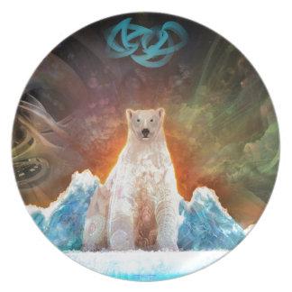 Stranded Polarbear Party Plate